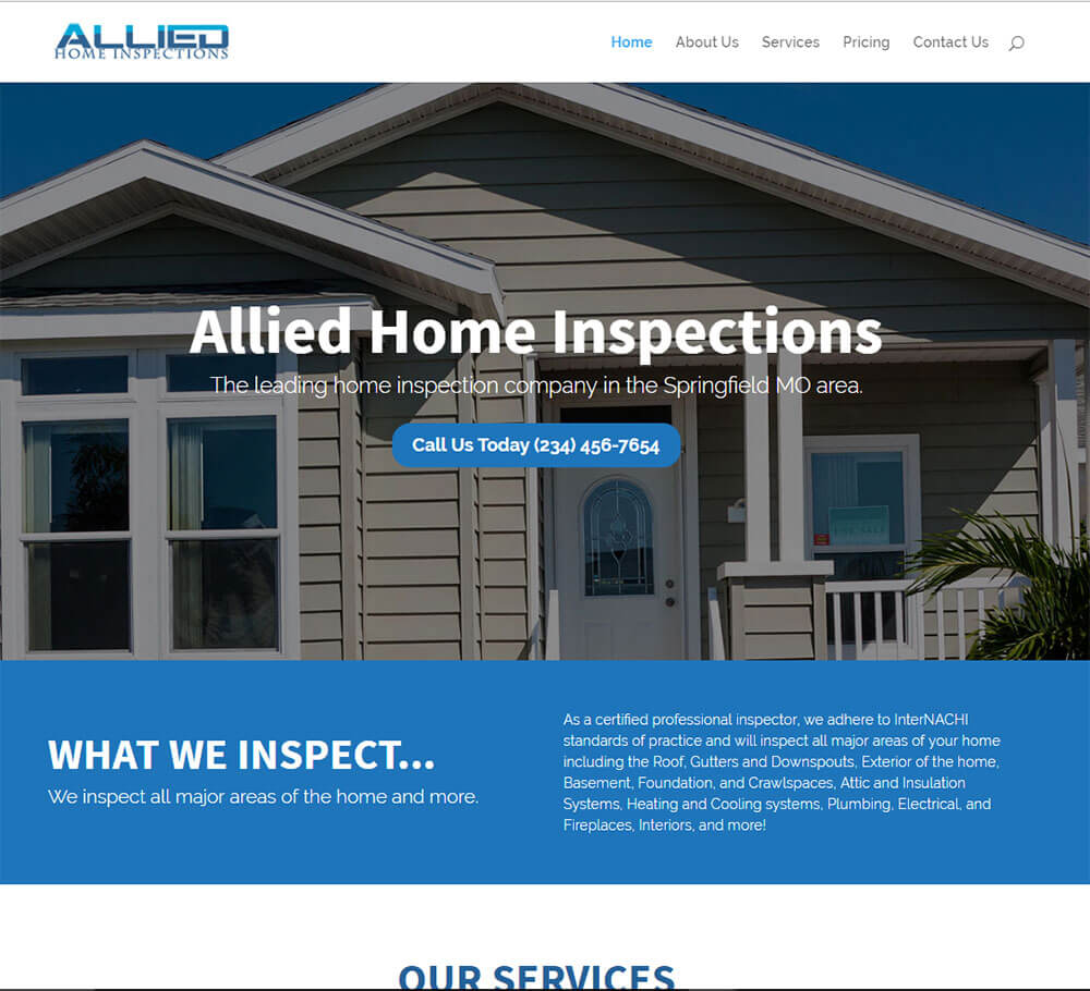 Home Inspection Website Templates 11