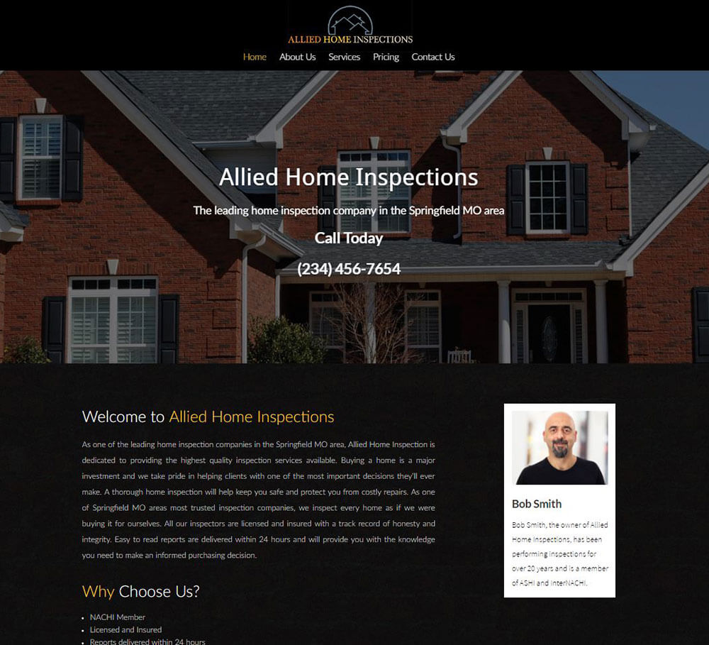 Home Inspection Website Templates 4