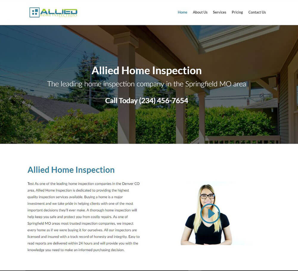 Home Inspection Website Templates And Home Inspection Web Design