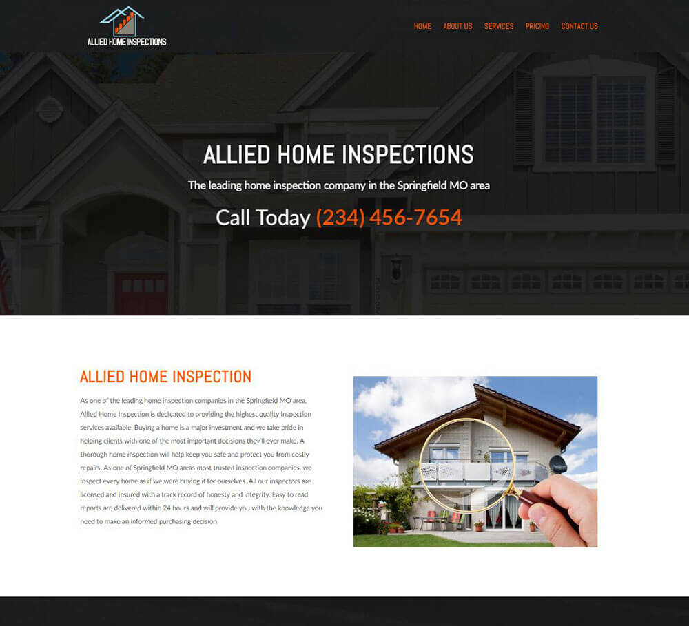 Home Inspection Website Templates 7