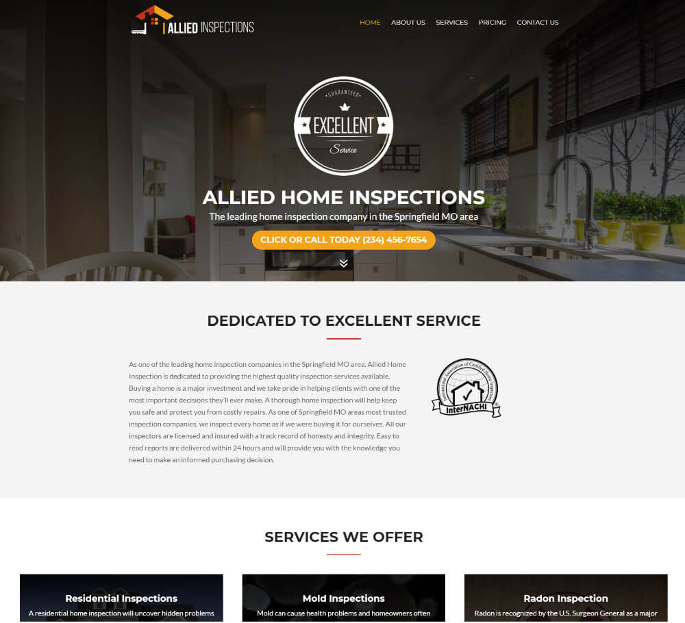 Home Inspection Website Templates 9