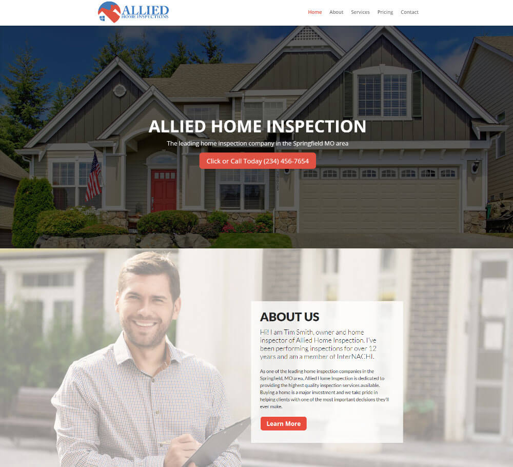 Home Design Website: Home Inspection Website Templates And Home Inspection Web