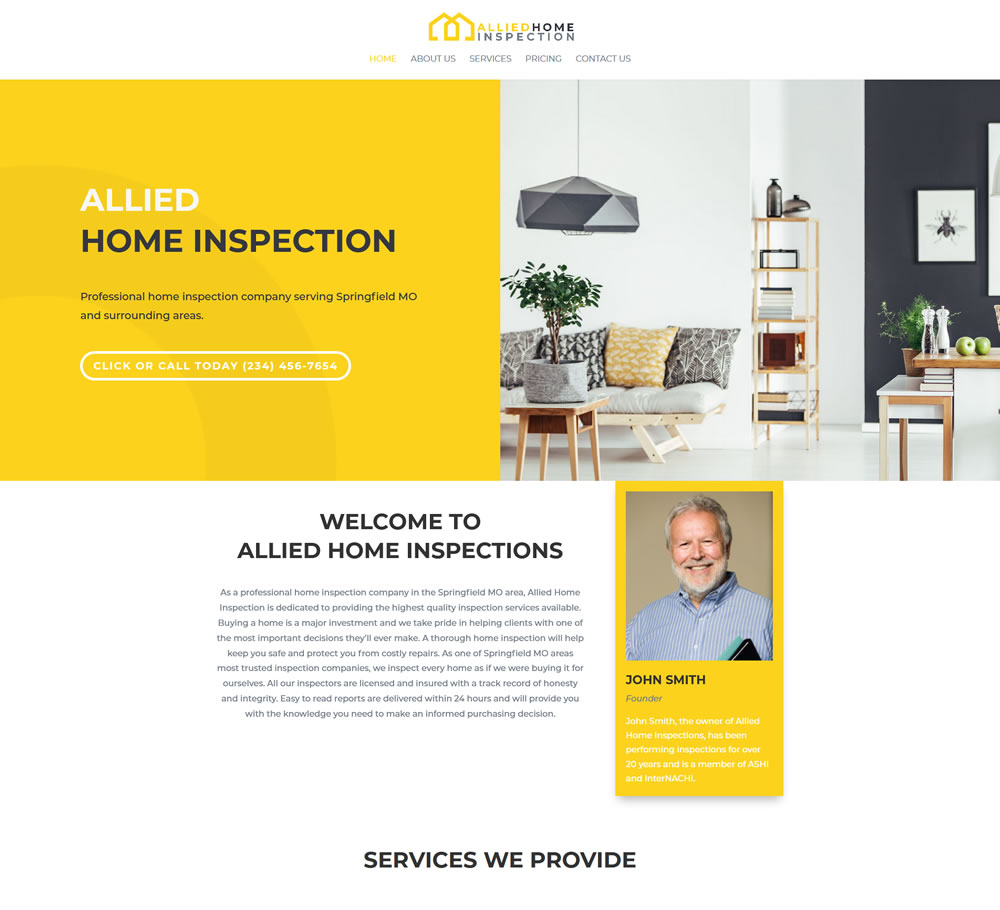 Home Inspection Website Templates 5